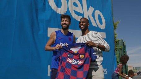 حضور کریس پاول ستاره NBA در تمرینات بارسلونا