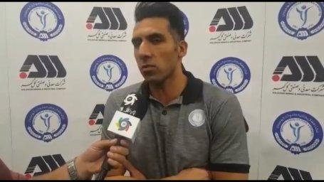میلاد فراهانی بهترین بازیکن بازی گل گهر-نساجی