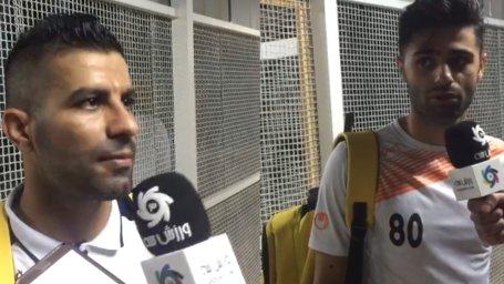صحبت های عسگری و حسین ابراهیمی پس بازی با تراکتور