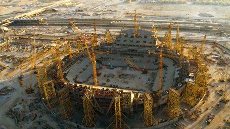 تایم لپس زیبا از مراحل ساخت ورزشگاه ملی لوسیل