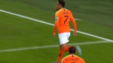 گل سوم هلند به آلمان ( دونیل مالن )