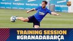 آماده سازی بازیکنان بارسلونا برای تقابل با گرانادا