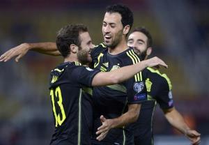 پیروزی خفیف اسپانیا مقابل مقدونیه