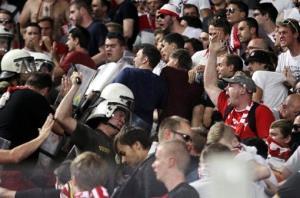 کتک خوردن مسئولان بایرن از هواداران نورنبرگ