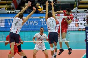 شکست والیبال ایران به آمریکا در شب اعتماد به جوانان