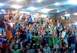 بازی ایران – آرژانتین در دانشگاه شیراز