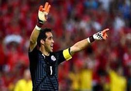 عکس العل های دیدنی از کلودیو براوو دروازه بان تیم ملی شیلی