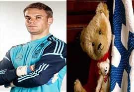 مانوئل نویر و علاقه اش به تدی خرسه