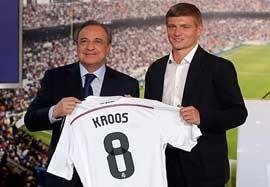 مراسم معارفه تونی کروس در باشگاه رئال مادرید
