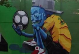 تب گرافیتی روی دیوارهای برزیل در زمان جام جهانی
