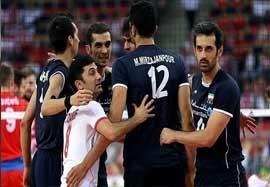 رختکن تیم ملی والیبال بعد از پیروزی و صعود