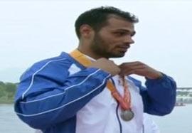 مراسم اهدای مدال نقره طالبیان