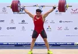 رستمی قهرمان وزنه برداری جهان