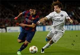 بارسلونا ۳-۱ پاریسسنتژرمن