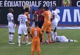 حرکت غیر اخلاقی ژروینیو با بازیکن گینه