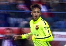 گل دوم نیمار؛ اتلتیکومادرید-بارسلونا