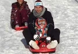برف بازی مسی و پسرش