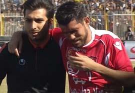 مصدومیت شدید فرناندو گابریل در بازی مقابل نفت مسجد سلیمان