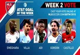 ۵ گل برتر هفته دوم MLS
