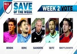 ۵ سیو برتر هفته دوم MLS