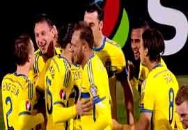 مولداوی ۰-۲ سوئد (خلاصه بازی)