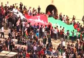 حضور پرشور افغان ها در ورزشگاه آزادی