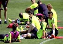 شروع تمرینات آمادگی بارسلونا برای فینال لیگ قهرمانان