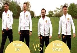 چالش جالب بازیکنان انگلیسی و اسپانیایی منچستریونایتد