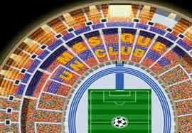 شعار هواداران بارسلونا در فینال لیگ قهرمانان اروپا