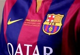 پیراهن ویژه بارسلونا در فینال لیگ قهرمانان