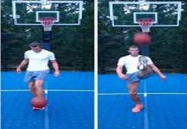 چالش جدید گرت بیل با توپ بسکتبال
