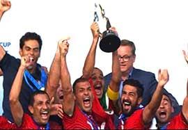 مراسم اهدای جوایز انفرادی و جام قهرمانی فوتبال ساحلی