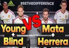 چالش فوتبال تنیس بین بازیکنان منچستریونایتد