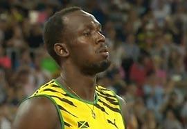 قهرمانی بولت در رقابت نهایی دو ۱۰۰ متر چین ۲۰۱۵