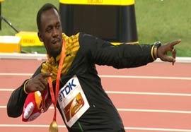 قهرمانی بولت در دو ۲۰۰ متر چین ۲۰۱۵