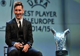 خوشحالی مسی از کسب افتخاری دیگر در اروپا (زیرنویس ورزش ۳)