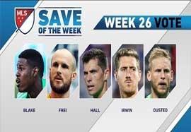 ۵ سیو برتر هفته ۲۶ MLS