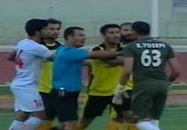 درگیری آخر بازی فجر-مس کرمان