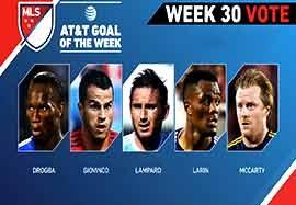 زیباترین گلهای هفته ۳۰ لیگ MLS