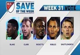 ۵ سیو برتر هفته ۳۱ MLS