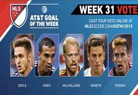۵ گل برتر هفته ۳۱ MLS