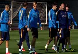 تمرین بارسلونا (۹۴/۰۷/۲۳)