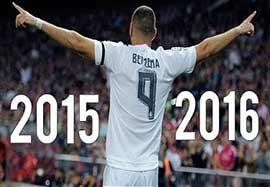 عملکرد بنزما در فصل ۲۰۱۶-۲۰۱۵