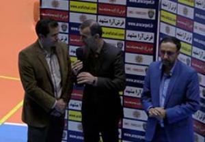 مصاحبه بعد از بازی  مربیان فرش آرا و منصوری