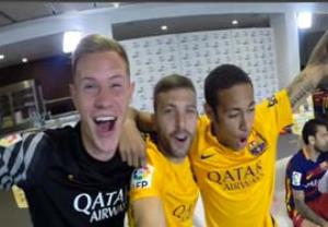 چالش جالب بازی FIFA16 بین بازیکنان بارسلونا