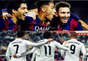 رقابت مثلث های رئال مادرید و بارسلونا در گلزنی