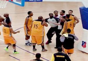 زد و خورد شدید در لیگ بسکتبال کویت