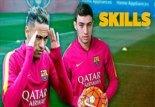 چالش روپایی نیمار و منیر الحدادی در تمرینات بارسلونا
