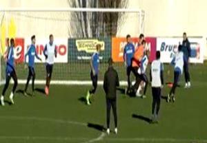 تمرین تیمی اینترمیلان قبل از بازی با یوونتوس