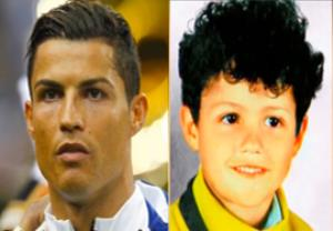 مقایسه چهره بازیکنان با دوران کودکی